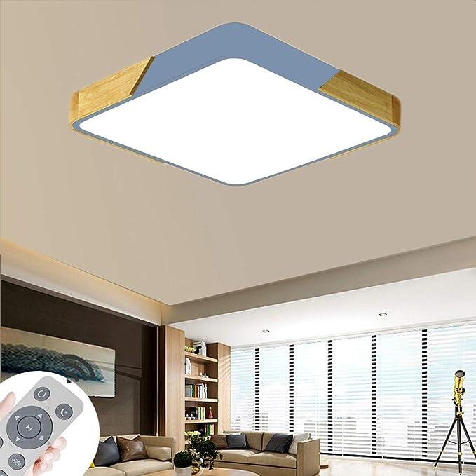 BFYLIN 60W LED Deckenleuchte Holz Dimmbar Deckenlampe Wohnzimmer Lampe Schlafzimmer Küche ...