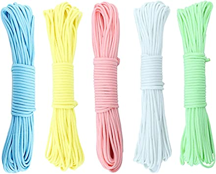 yyuezhi Cuerda Luminosa Cuerda de Escalada de Nylon Paracord Fluorescente Cuerda de la Tienda Cuerda de Paracaídas Cuerda de Supervivencia al Aire ...