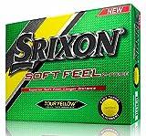 Srixon Men's Soft Feel Dozen Golf Balls, Tour Yellow