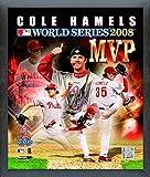 "Cole Hamels Philadelphia Phillies 2008 World Series MVP Photo (Size: 12"" x 15"") Framed"