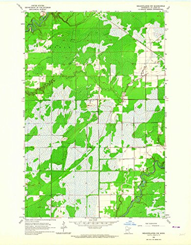 Meadowlands NW MN topo map, 1:24000 scale, 7.5 X 7.5 Minute, Historical, 1963, updated 1964, 27.2 x 21.2 IN - Paper -
