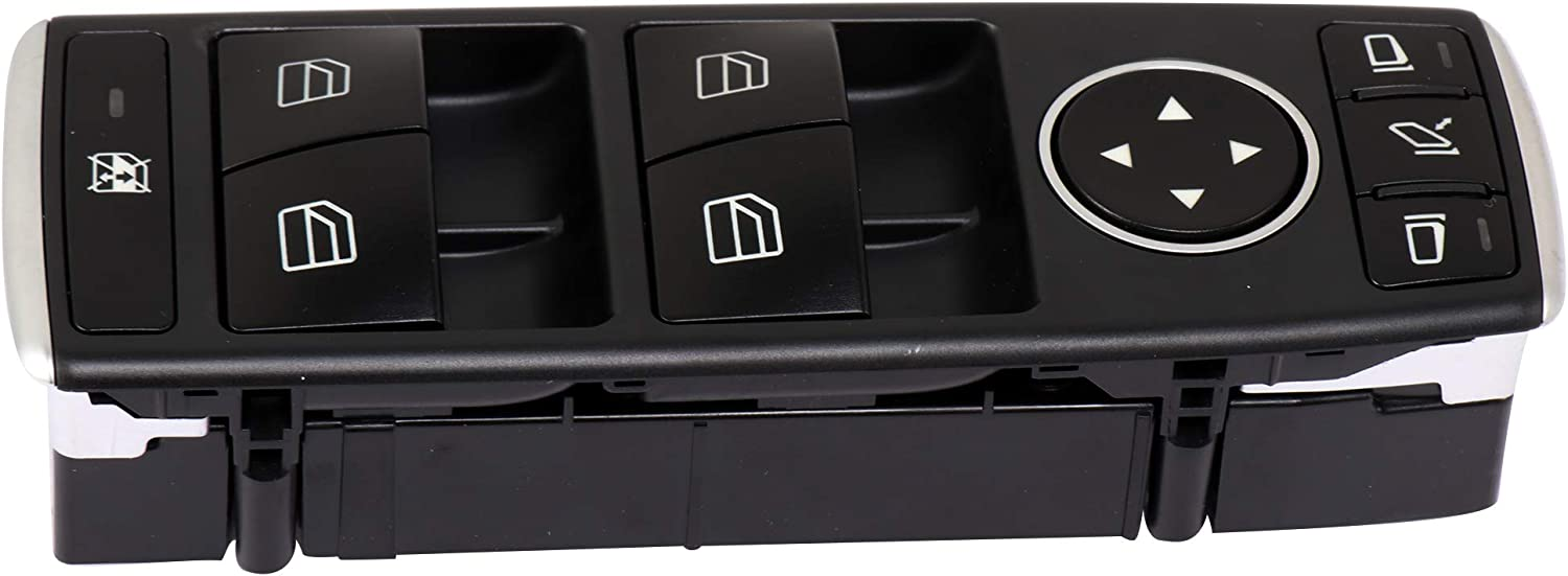 Power Window Switch Door Lock Switch Front Driver/'s Side fits for 2013-2014 Mercedes-Benz C250 2013-2014 Mercedes-Benz C300 C350 C63 2013-2014 E350 2015-2016 E400 2013-2016 E550 OE A20490554