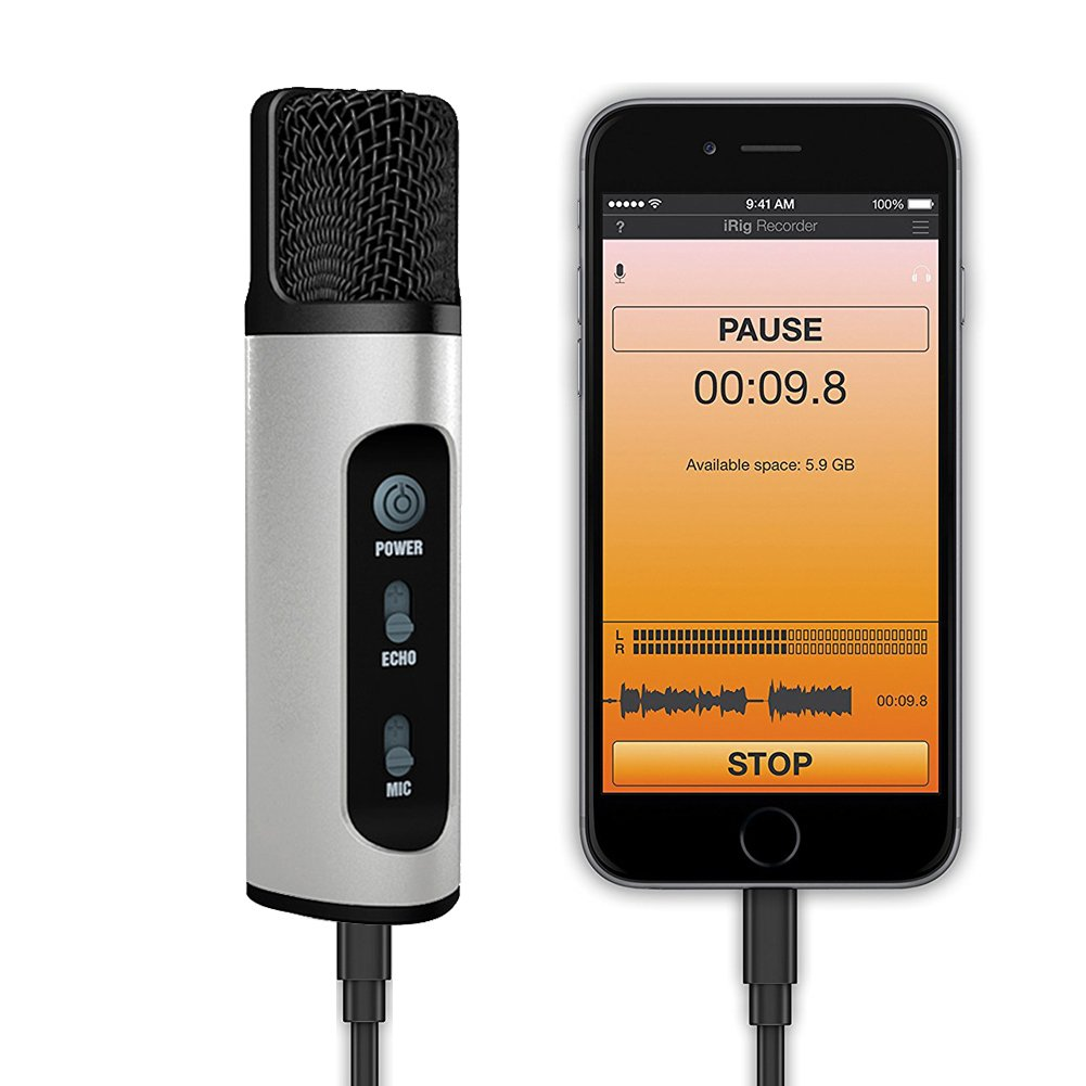 Professional Microphone, Microphone For Computer/PC/Phone/Desktop/Iphone/Android Phone,TKGOU KARAOKE Microphone With Monitor,Echo Karaoke,Voice Changer-(M991B) 10794664