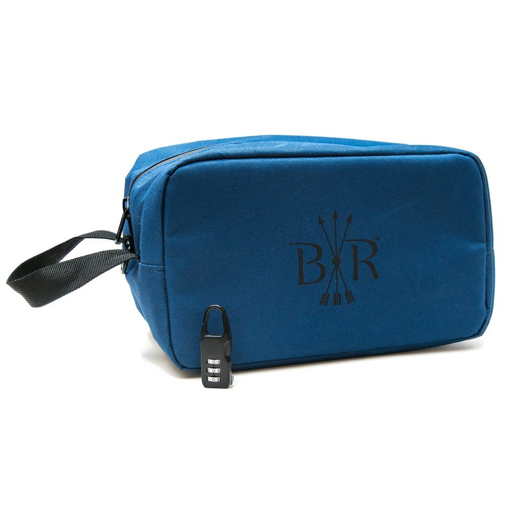 Black Rock Originals Child-Safe Smell Proof Carryall - 100% Carbon Lined - Comes with Combination Lock (Slate)