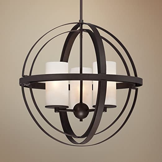 Morris 21 wide 3 light bronze sphere pendant light amazon aloadofball Images