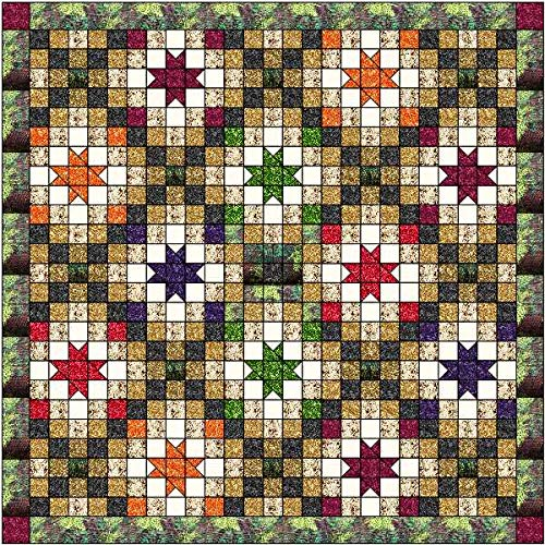 Quilt Kit Autumn Nights Striking! by Material Maven