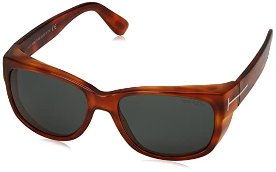 720efb947de9 Image Unavailable. Image not available for. Color  Tom Ford Carson TF 441  53N Blonde Havana Sunglasses