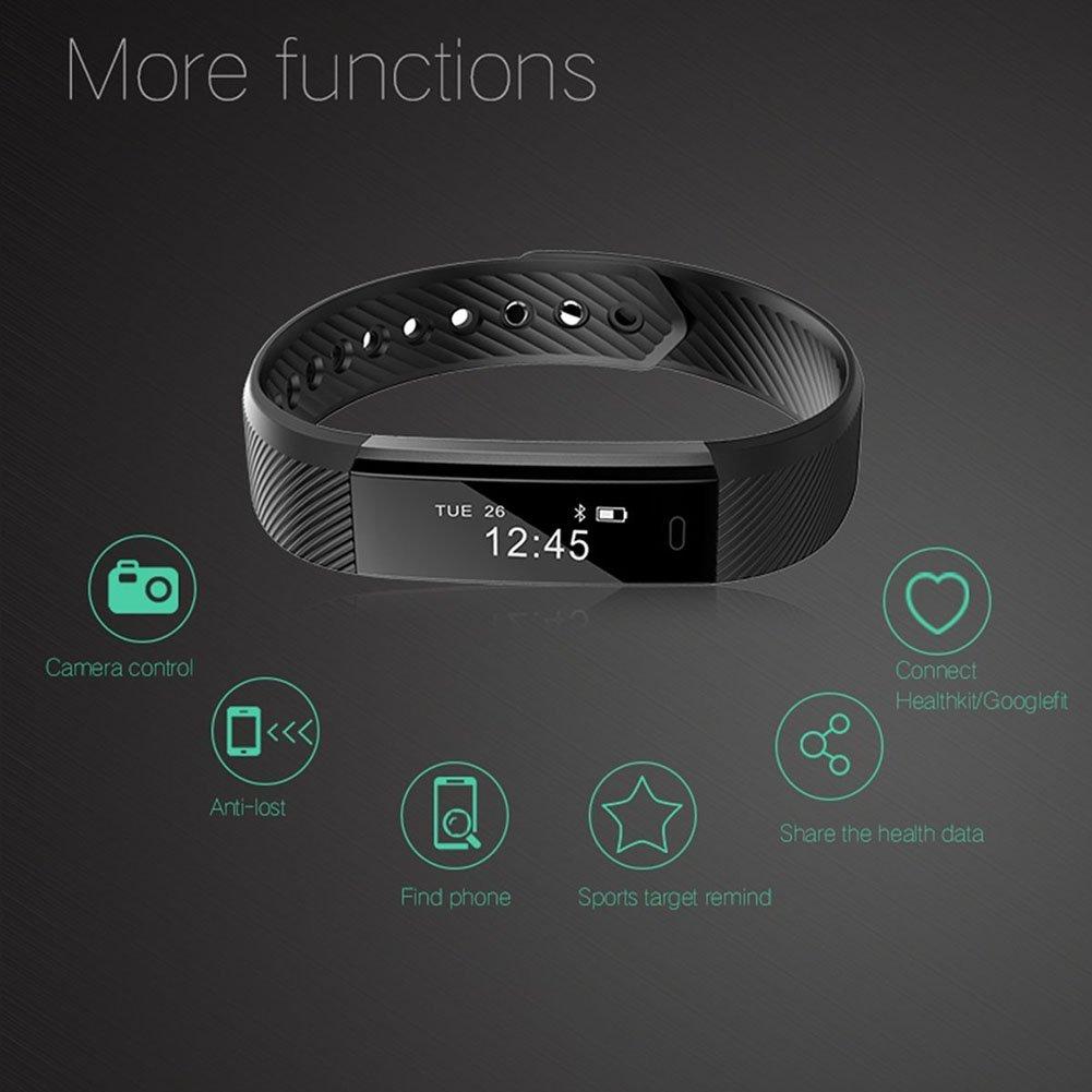 Pulsera inteligente, Fitness Tracker, pulsera Fitness Inteligente ...