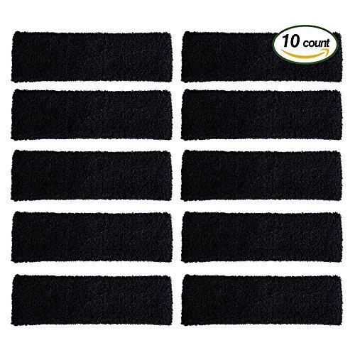 OnePlus 10 Pieces Stretchy Cotton Sports Headbands - Black
