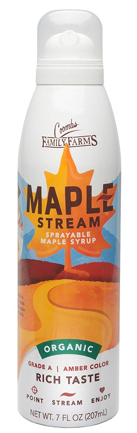 Coombs Family Farms Maple Stream Sprayable Maple Syrup Organic Grade A, Amber Color, 7 Ounce | Pack of 12
