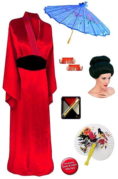 Amazon.com: sanctuarie diseños rojo Geisha Deluxe Plus ...