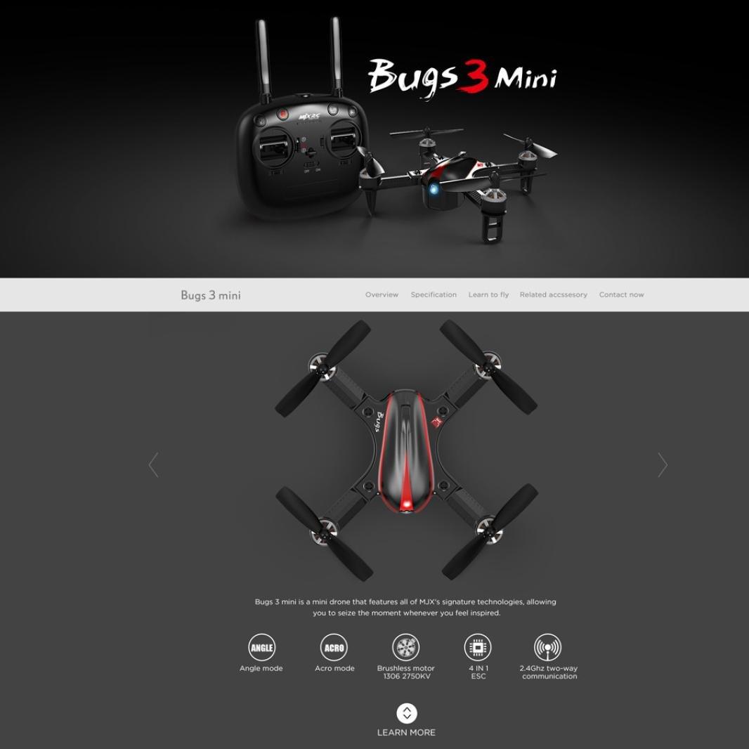 Siviki MJX Bug3 B3mini Brushless Motor RC Aircraft Quadcopter Remote Control Drone Toy by Siviki (Image #9)