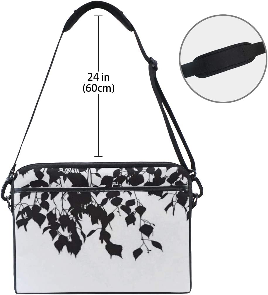College Students Business People Office Wor Laptop Bag Silhouettes Leaves 15-15.4 Inch Laptop Case Briefcase Messenger Shoulder Bag for Men Women