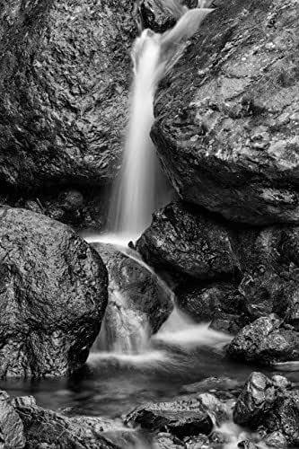 Amazon.com: Landscape Photography, Waterfall, Rocks, Black