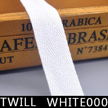 Cinta de algodón para encuadernación de 5 m, color negro y blanco liso, de sarga, para embalaje, accesorios hechos a mano, Sarga blanca000, 50 mm: Amazon.es: Hogar