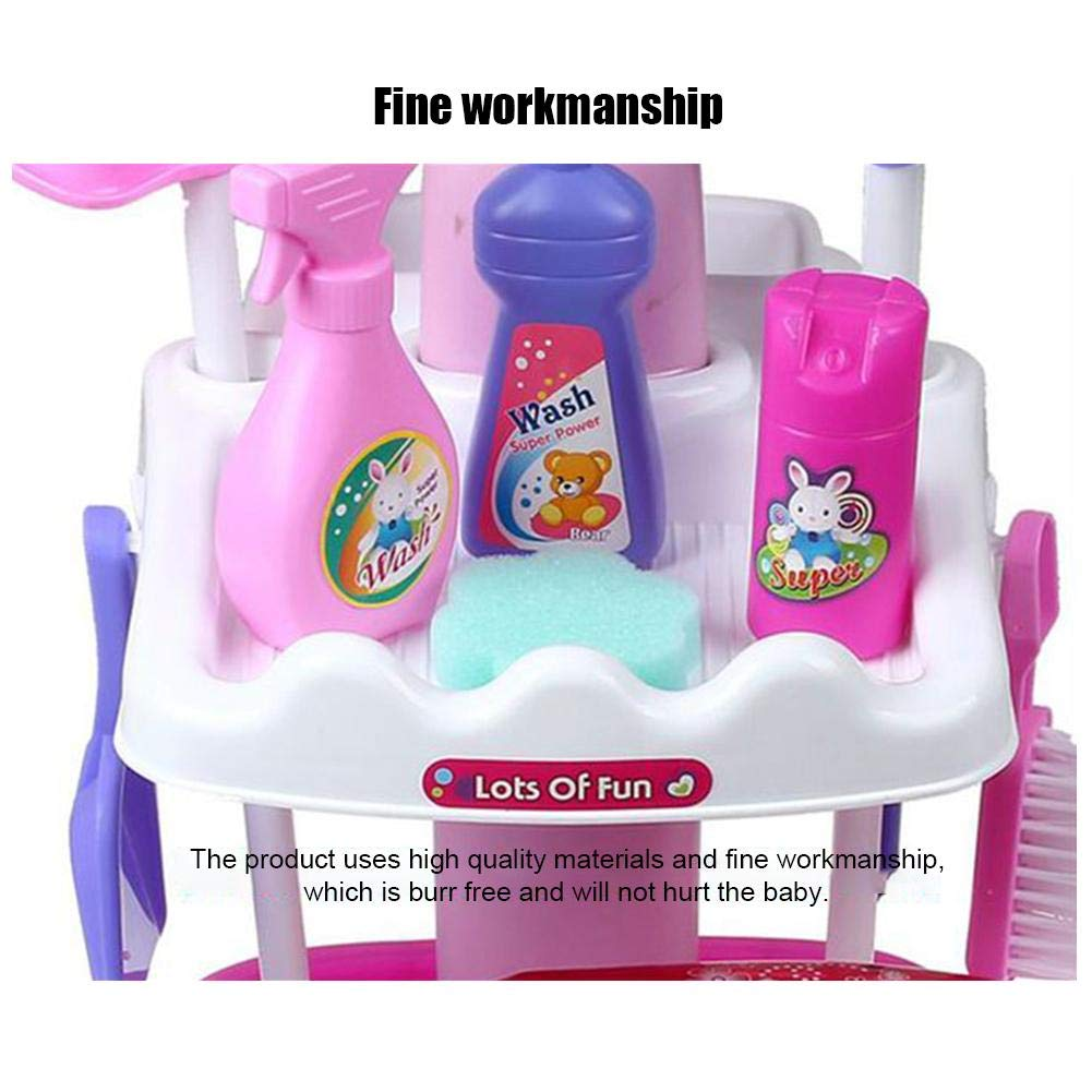 Amazon.com: Stylishbuy Pretend Play Cleaning Set Large Cleaning Trolley Playset for Kids Toddler Pretend Toy Housekeeping Kit Mops Dustpan Broom: Home & ...