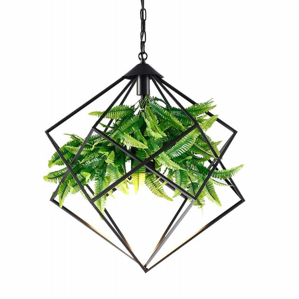 DEN Walnut country chandeliers Nordic creative restaurant study bar fashion wrought iron personality green lights,A,in