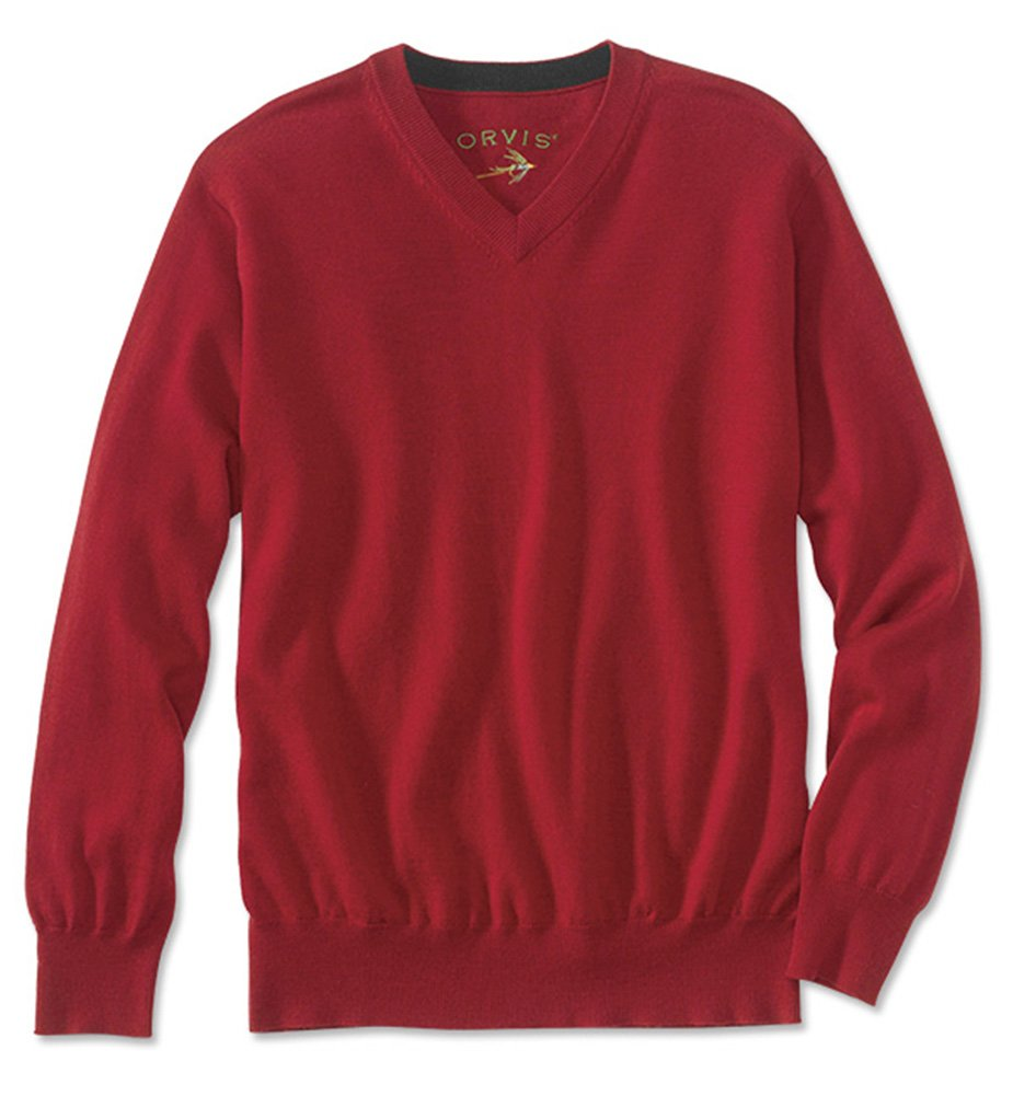 Orvis Merino Wool V-neck Sweater 156S:156S