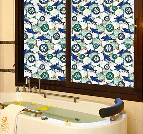 veoley-static-cling-dolphin-pattern-privacy-stained-glass-decorative-window-film-stained-glass-windo