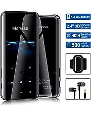 MP3 Player, Mansso 8GB Bluetooth MP3 Player mit Kopfhörer, MP3 Player Kinder mit Lautsprecher FM Radio Voice Recorder 2.4 Zoll TFT Bildschirm, Speicher Erweiterbar bis 128 GB