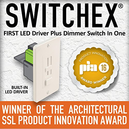 Dimmer 1 Wide (Diode LED DI-24V-SE-60W 24VDC SWITCHEX LED Driver & Dimmer in One 60W 120VAC Input)