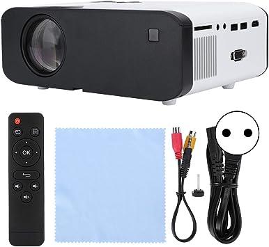 Opinión sobre Mini proyector 1080P, proyector de Reproductor Multimedia de Cine en casa multilingüe portátil de Alta definición Completa con Altavoz(Blanco)