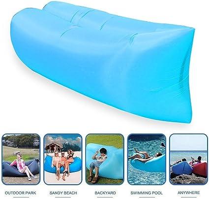 Chaise longue gonflable Canap/é avec sac de transport Hamac Air Canap/é lit gonflable PISCINE flotteur pour int/érieur//ext/érieur randonn/ée Camping plage jardin /étanche durable parc