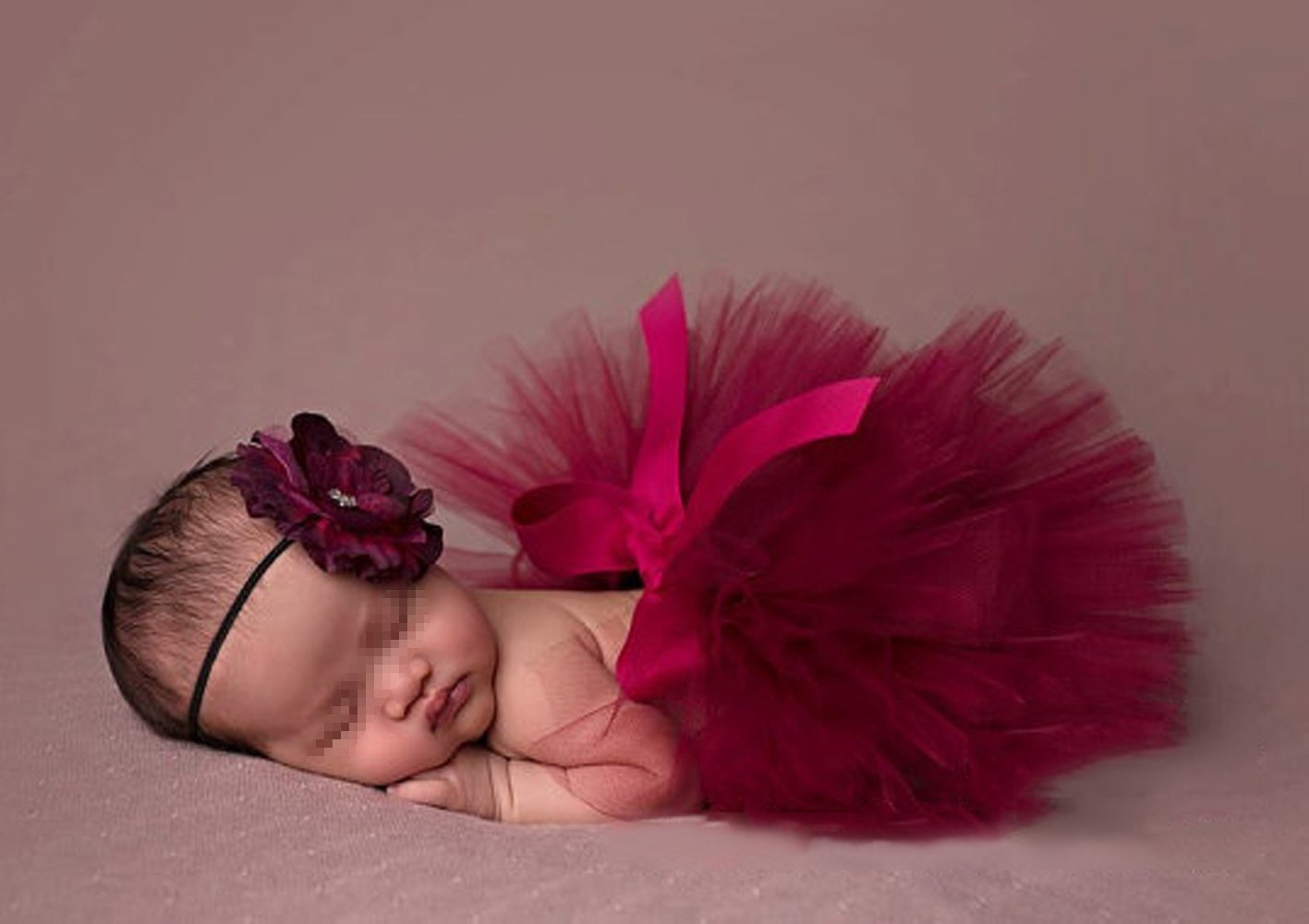 ZUMUii butterem Reci/¨/¦n Nacido Baby s?ugling fotograf/¨/ªa Tija Flores Tutu Rock Disfraz Ropa Ropa Cinta Set