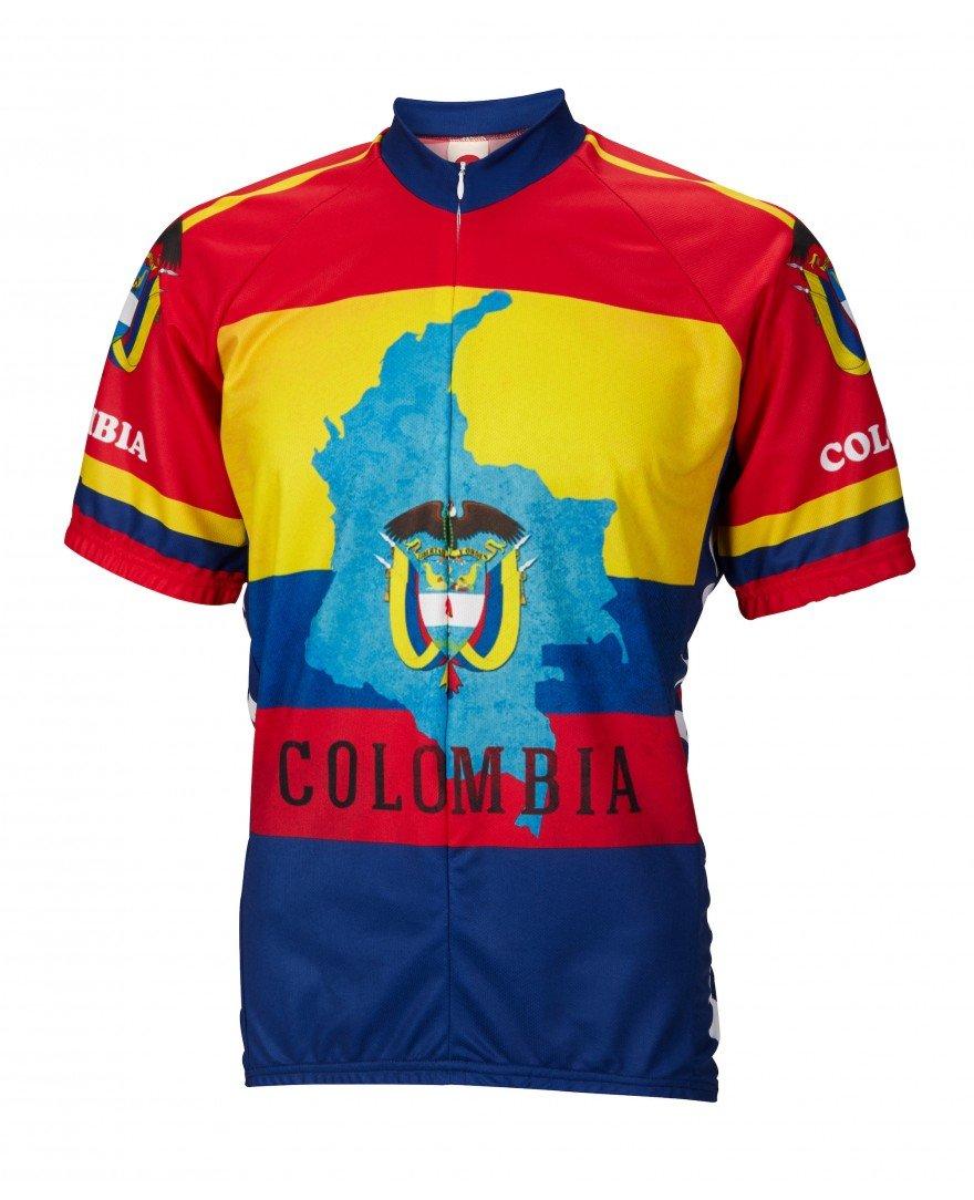 コロンビア世界ジャージCycling Jerseyメンズショートスリーブ B07CH2ZCF5 XX-Large