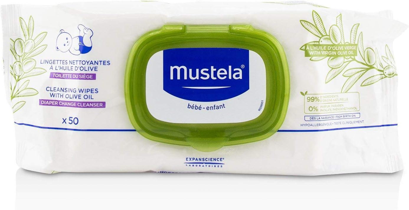 Mustela Lingettes Nettoyantes Reli 50U 980 g: Amazon.es: Belleza