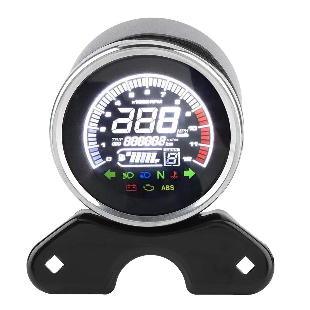 GN125 etc Aramox Tachym/ètre de compteur de vitesse de moto compteur kilom/étrique affichage num/érique LCD pour moto CG-125
