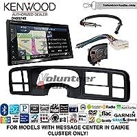 Volunteer Audio Kenwood DNX574S Double Din Radio Install Kit with GPS Navigation Apple CarPlay Android Auto Fits 1999-2002 Silverado, 1999-2002 Tahoe, 1999-2002 Yukon