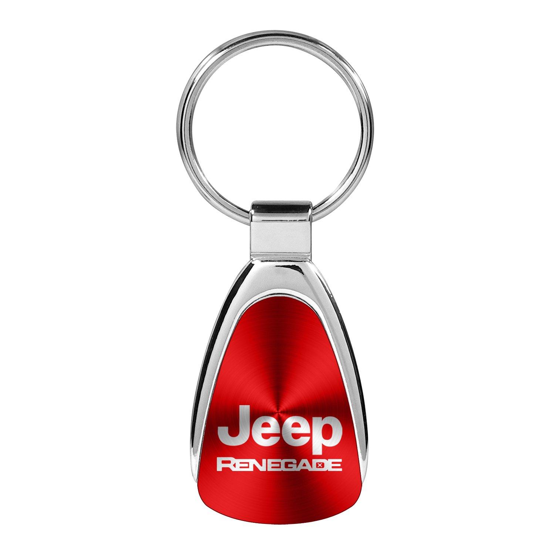 INC Au-Tomotive Gold Jeep Renegade Red Tear Drop Key Chain Keychain Keyfob