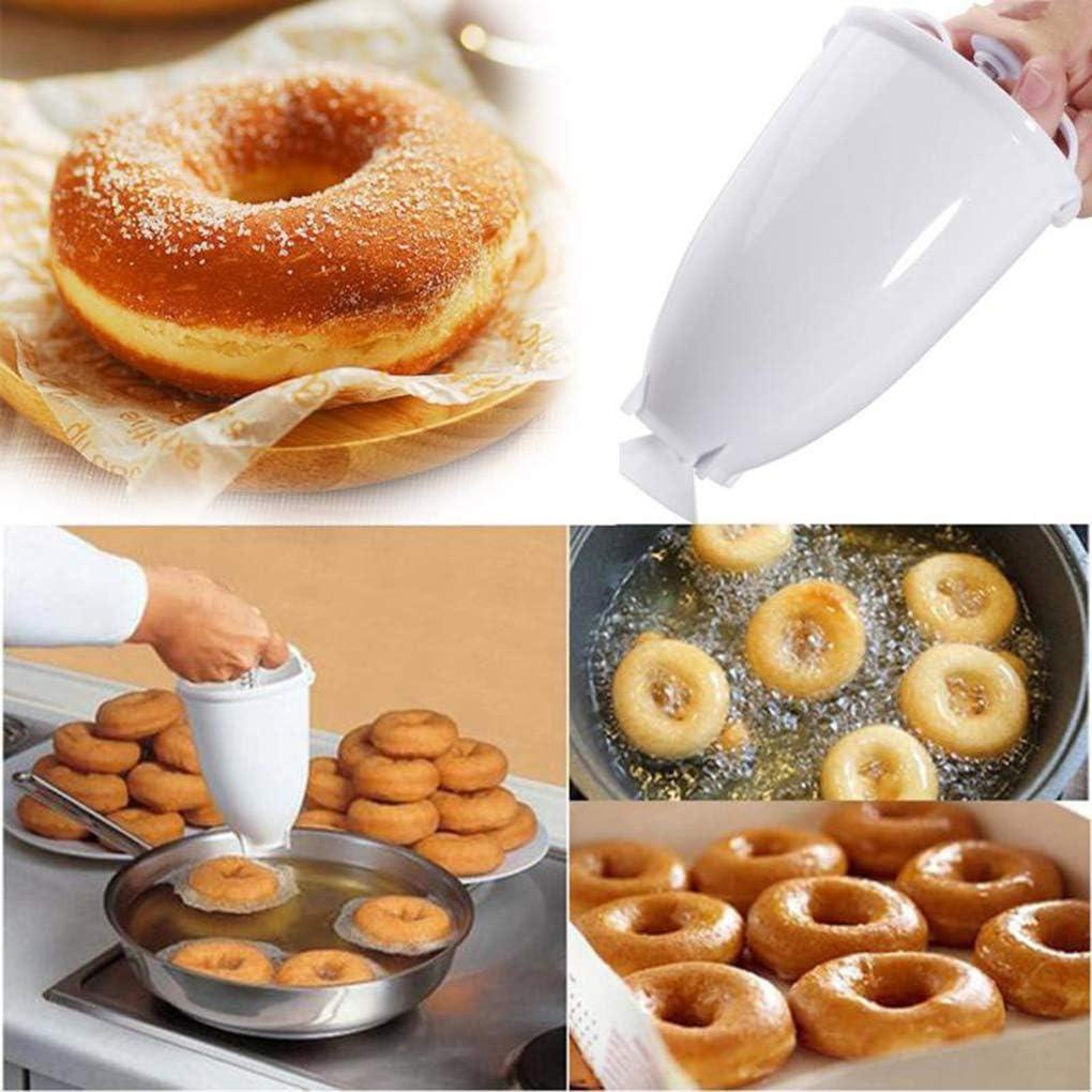 rongweiwang Kunststoff-Donut Maker DIY-Maschine Kunststoff-Donut-Hersteller-Werkzeug-Form-K/üche Geb/äck Kuchen Ware Donut Herstellung von Keramikbackzubeh/ör