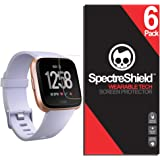 (6-Pack) Spectre Shield for Fitbit Versa Screen Protector (Military-Grade) Flexible Full Coverage Invisible HD Clear Anti-Bubble Anti-Scratch Film