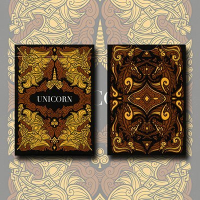 Unicorn Playing cards (Copper) by Aloy Design Studio USPCC - Trick