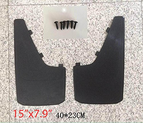length 15.7 X width 9 SIZVER Universal MudGuards Flaps Splash Guards Fits Most Front or Rear Molded Pair Set 2pc
