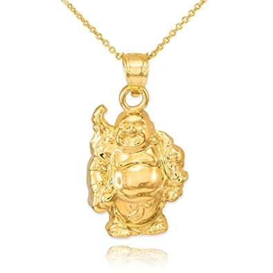 necklace charm pendant flont lucky diamond temple clair by st gold