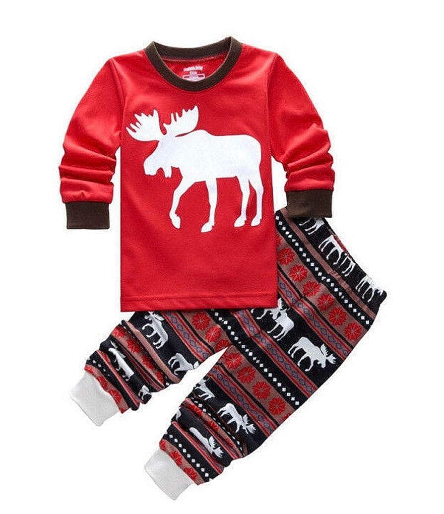 157ee276f5 ... Family Matching Christmas Reindeer Pajama PJ Sets Sleepwear Nightwear  Homewear