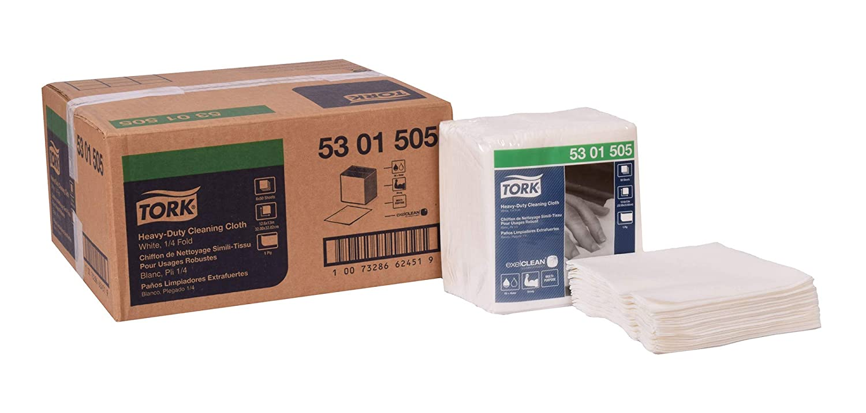 Tork 5301505 Heavy-Duty Cleaning Cloth, 1/4 Fold, 12.6
