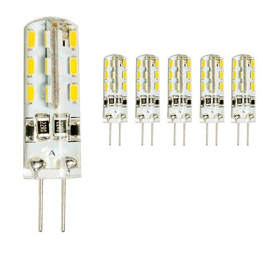 mengjay® 5 x G4 DC12 V 1,5 W LED Bombilla 24leds SMD 3014