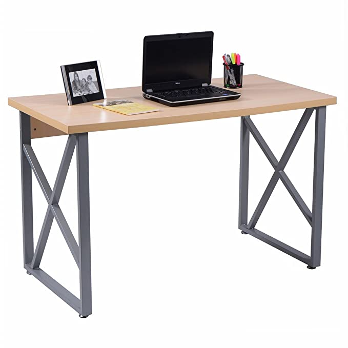 Chefjoy Computer Desk Pc Laptop Table Wood Workstation Study Home Office Furniture by Chefjoy
