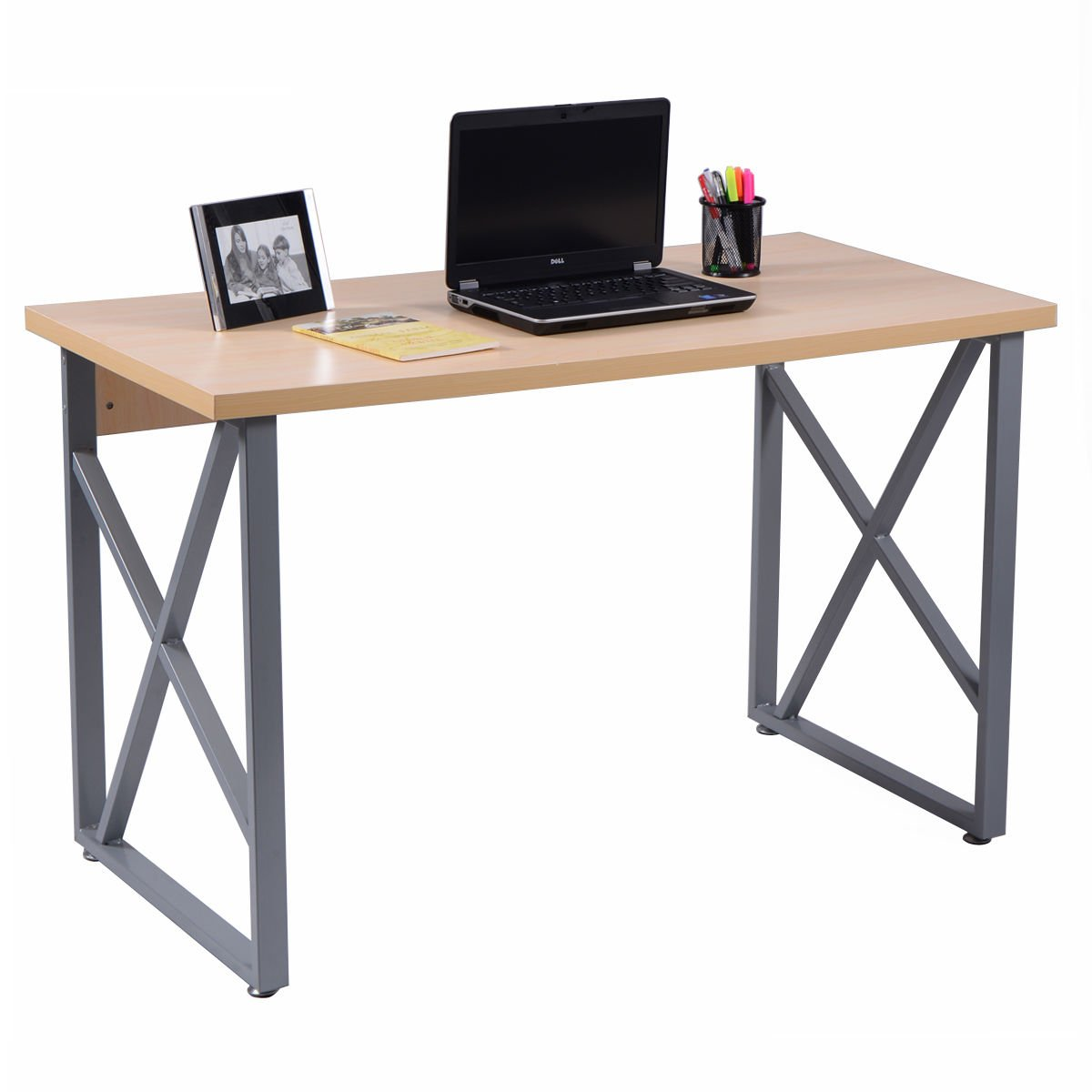 onestops8 Computer Desk PC Laptop Table Writing Study Workstation Home Office Furniture