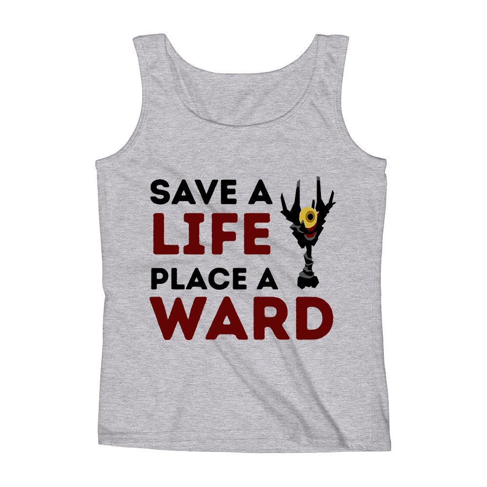 Mad Over Shirts Save A Life Place A Ward Gamer Dota Quote Unisex Premium Tank Top