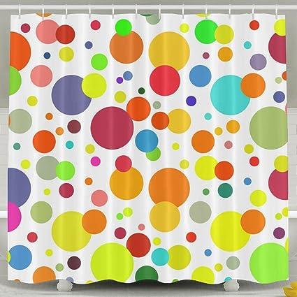 SARA NELL Shower Curtain Rainbow Polka Dot Bath Curtain For Bathroom  Waterproof Polyester Fabric Bathroom Accessories