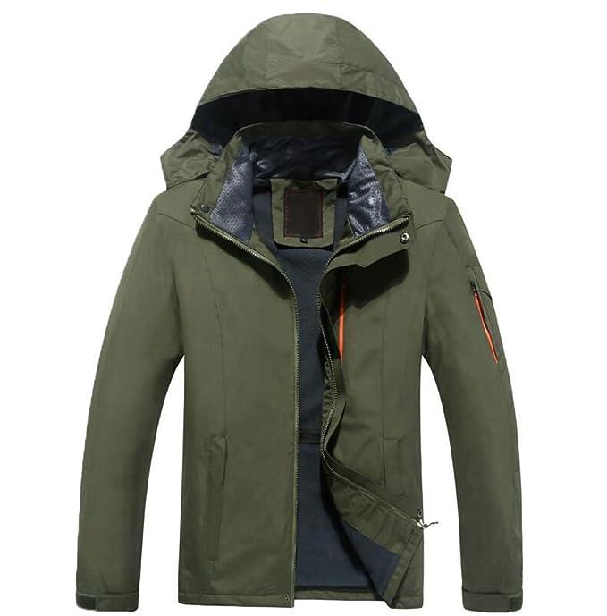Chaqueta Para Hombre Alpinismo Al Aire Libre Warm Andes Jacket Waterproof Chaqueta Para Proteger Del Viento Con Capucha,Green-7XL: Amazon.es: Ropa y ...