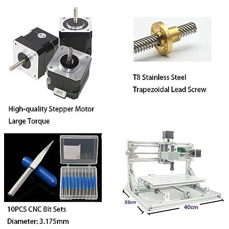 TopDirect CNC Fräsmaschine, Arbeitsbereich: 300 * 180 * 45mm, DIY ...