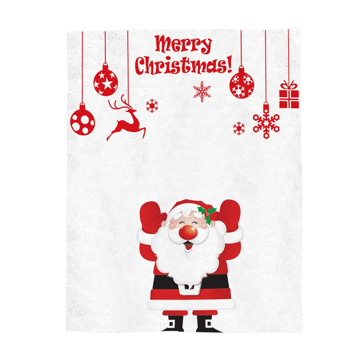 Merry Christmasyag6611 49x59inch=125x150cm YEHO Art Gallery Flannel Fleece Bed Blanket Soft ThrowBlankets for Adult Kids Girls Boys,Cute Christmas Santa Claus Pattern,Lightweight Blankets for Bedroom Living Room Sofa Couch,49x59inch
