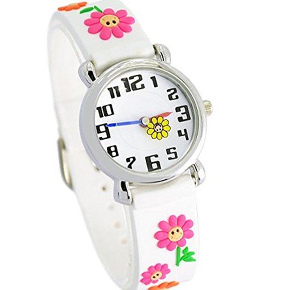 Fashion Brand Quartz Wrist Watch Baby Children Girls Boys Watch Flower Pattern Waterproof Watches