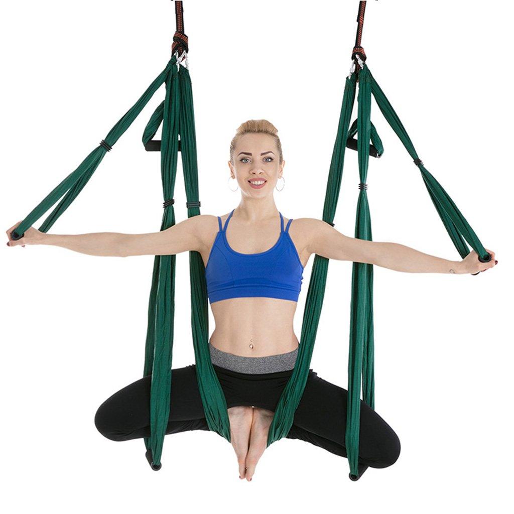 Hängematte Outdoor Freizeit Luft 210T Nylonspinnen Yoga Haushalt Anfänger Innen Im Freien Tragbar Hängen Trainingsgürtel -Ultralight Bequeme